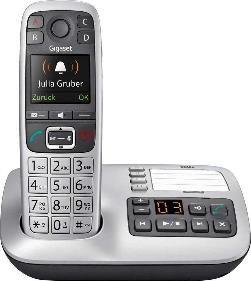 gigaset e560 a schnurloses dect telefon mobilteile 1. Black Bedroom Furniture Sets. Home Design Ideas