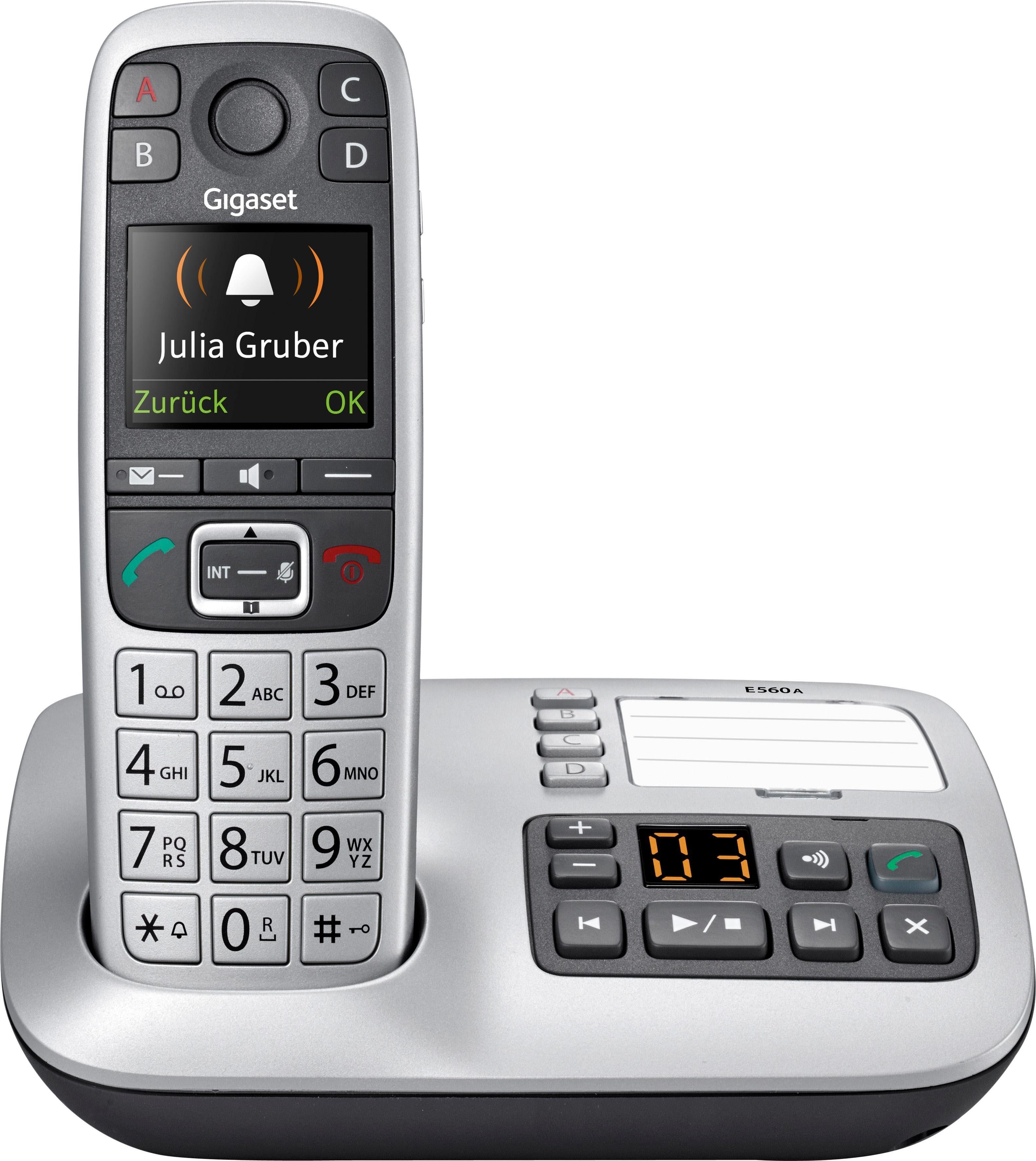 Gigaset E560 A Schnurloses DECT Telefon mit AB