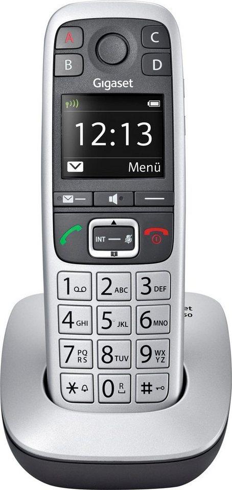 Gigaset E560 Schnurloses DECT Telefon in platin-schwarz
