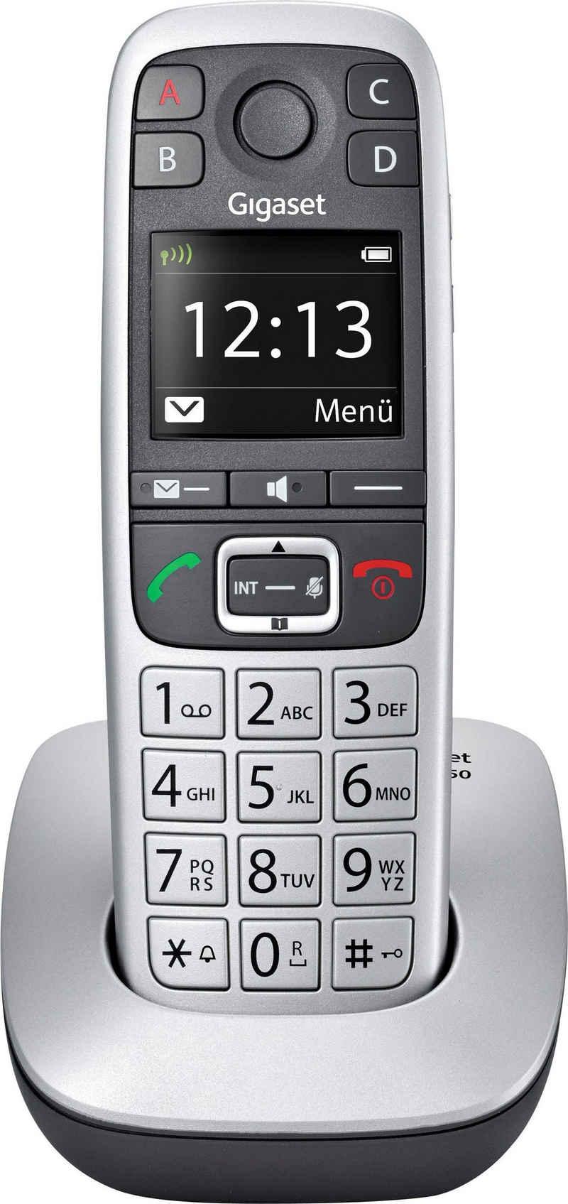 Gigaset »E560« Schnurloses DECT-Telefon (Mobilteile: 1, Weckfunktion, Freisprechen)
