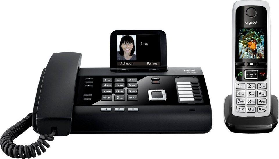 Gigaset DL500A + C430HX Telefon-Set mit AB in schwarz