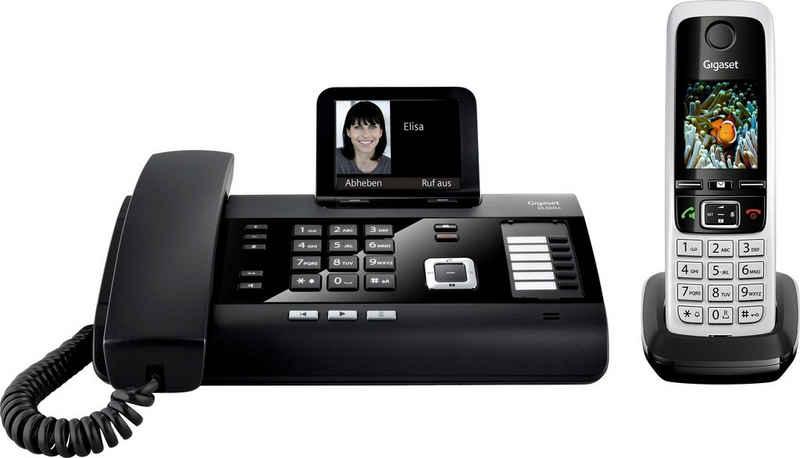 Gigaset »DL500A + C430HX« Kabelgebundenes Telefon (Mobilteile: 1, LAN (Ethernet), Bluetooth, Anrufbeantworter, Weckfunktion, Freisprechen)