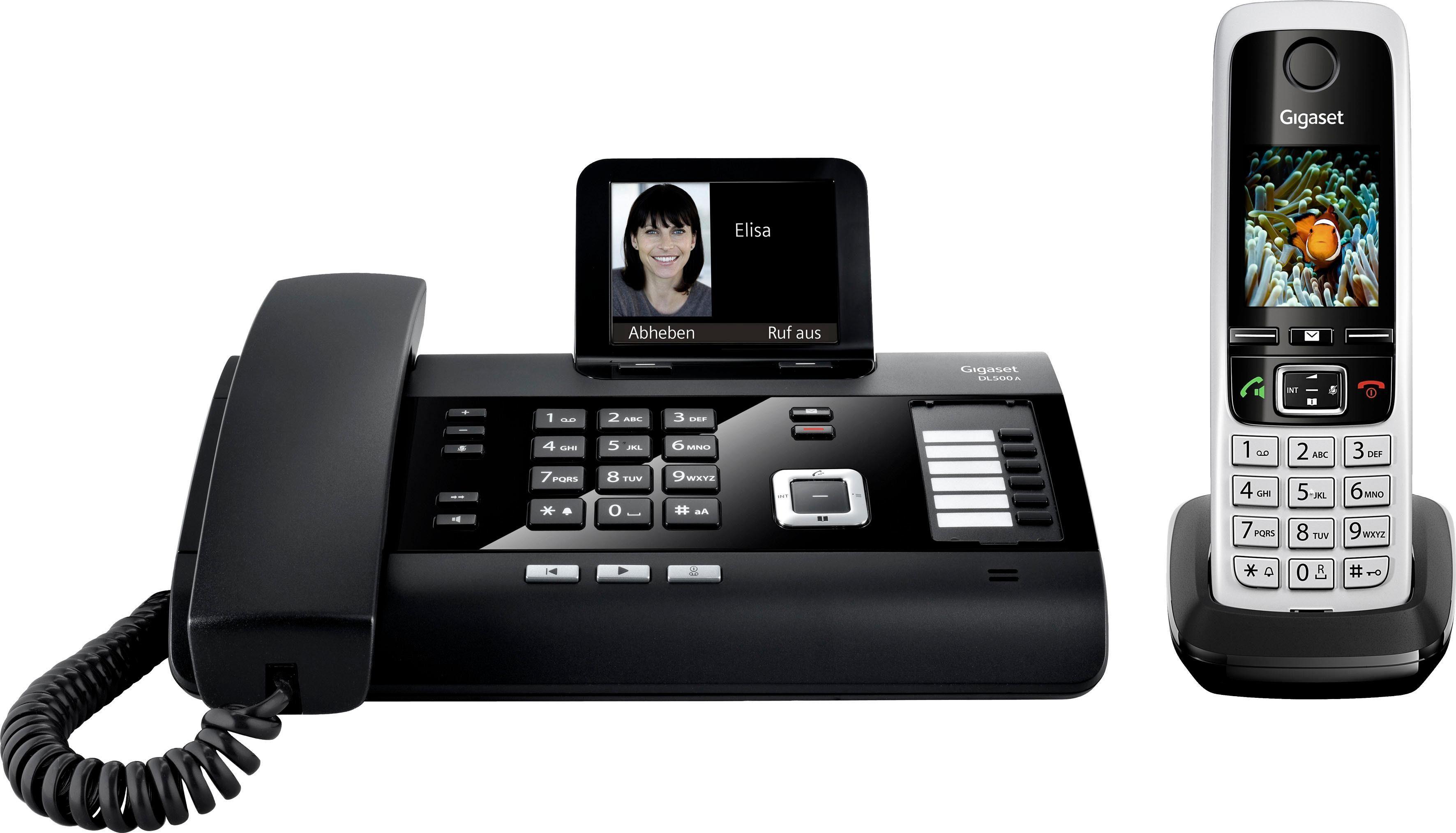 Gigaset DL500A + C430HX Telefon-Set mit AB