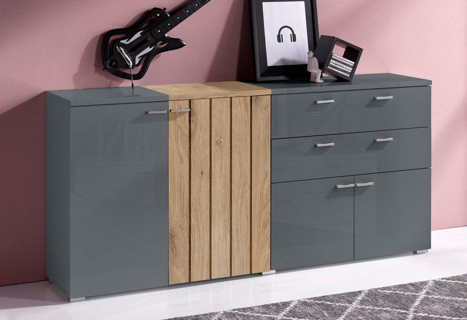 Sideboard, Breite 165 cm in grau/asteichefarben