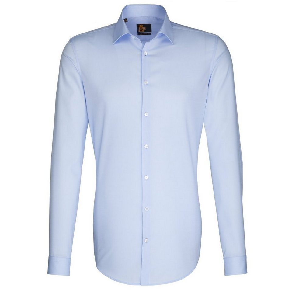Seidensticker Businesshemd »slim« in hellblau