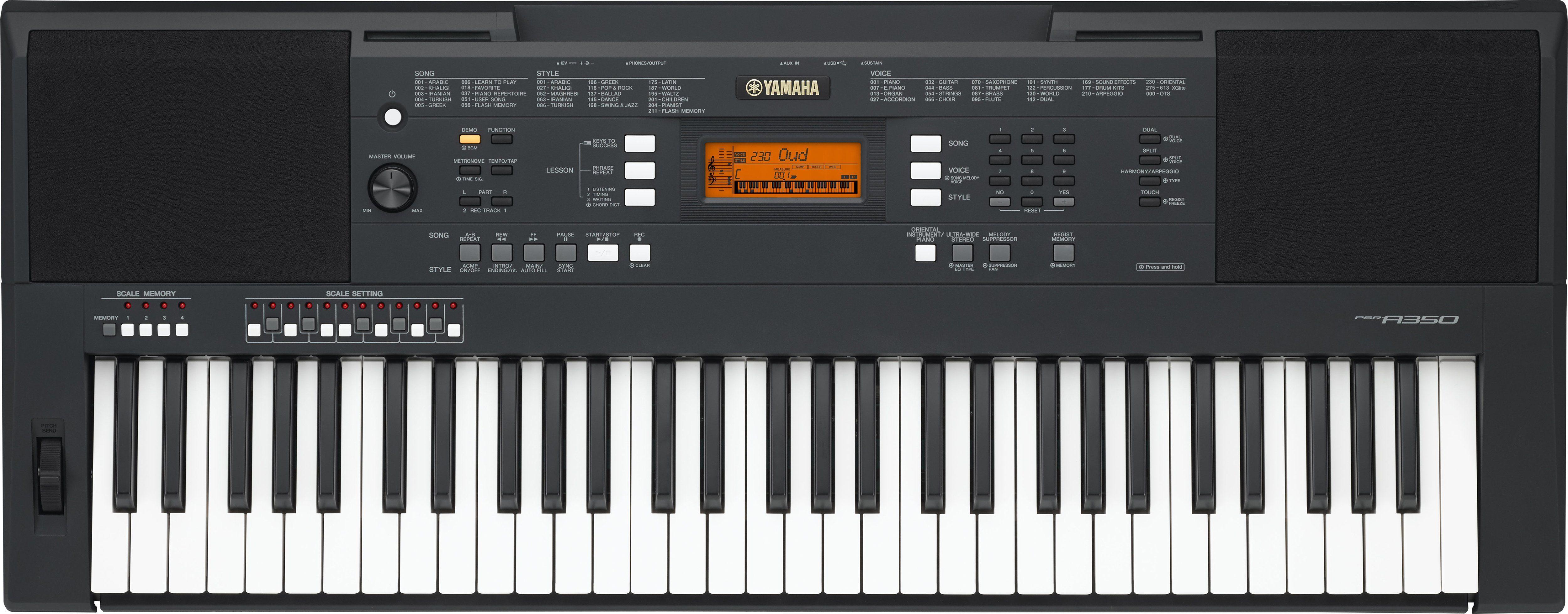 Yamaha Orientalisches Keyboard, »PSR A350«