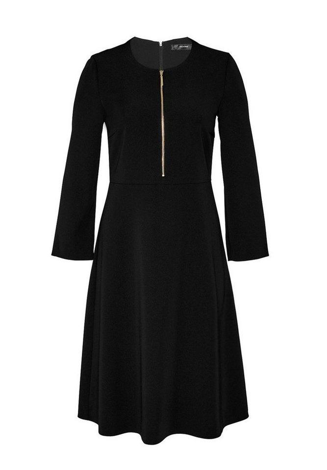 HALLHUBER Schwingendes Zipper-Kleid in schwarz