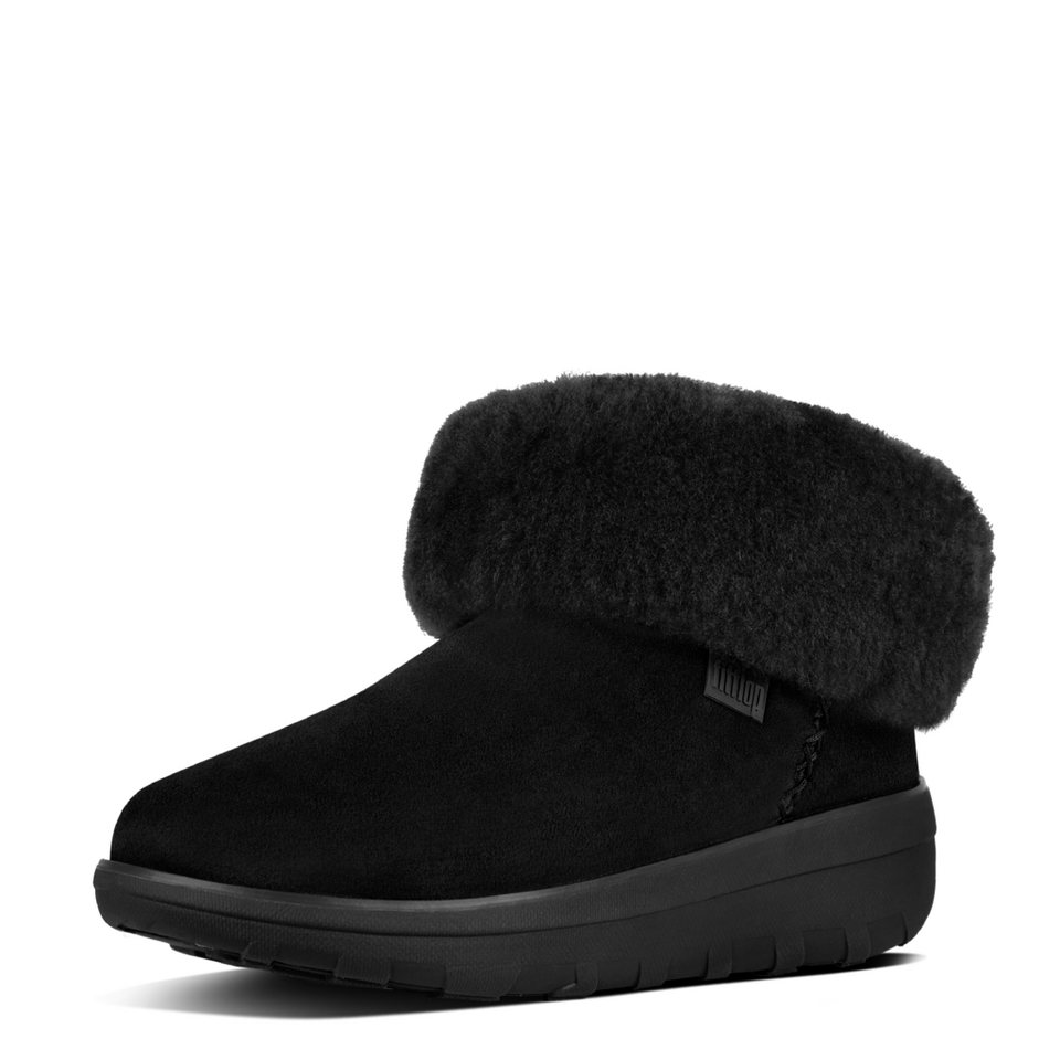 FitFlop »FitFlop MUKLUK SHORTY BOOTS All Black« Ankleboots in schwarz