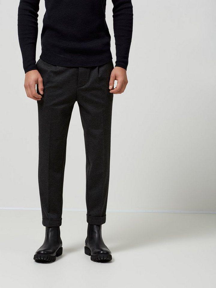 Selected Konisch geschnittene Hose in Dark Grey