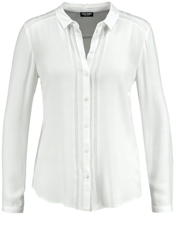 Gerry Weber Bluse Langarm »Bluse mit applizierten Bändern« in Off-White