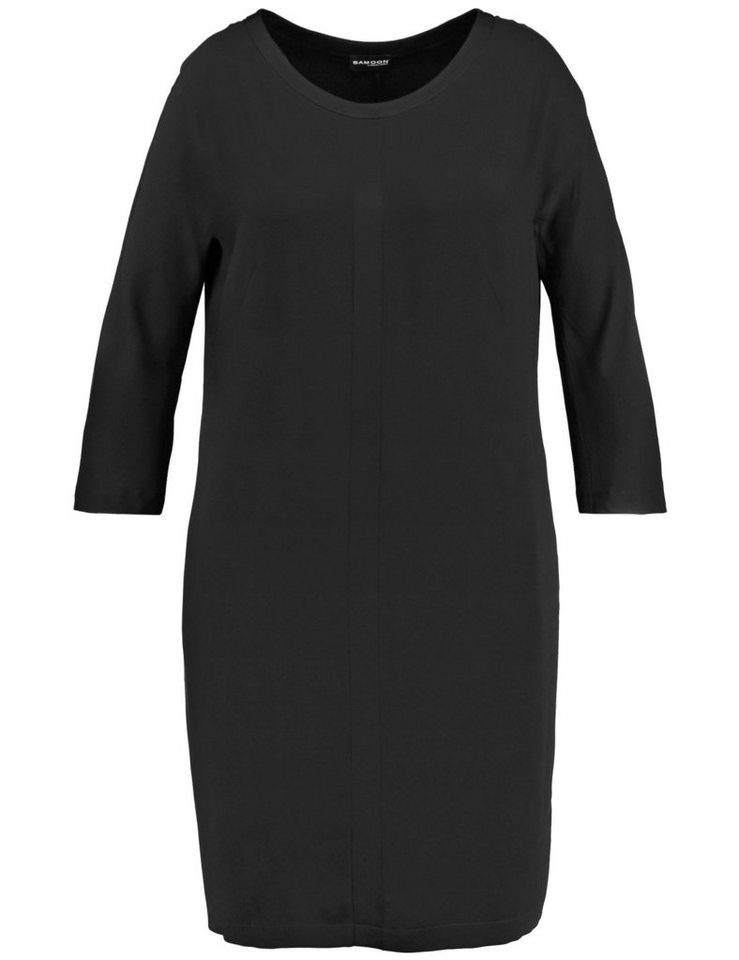 Samoon Kleid Langarm kurz »O-Shape Kleid« in Schwarz