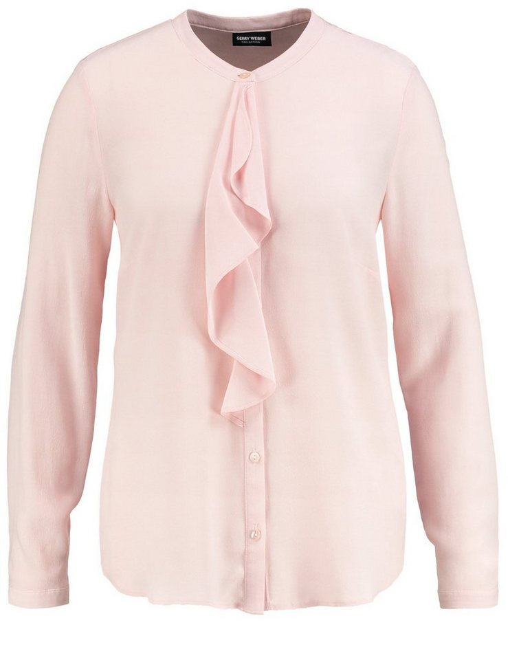 Gerry Weber Bluse Langarm »Bluse mit Volant« in Puder