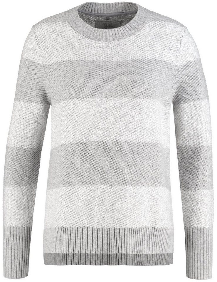 Gerry Weber Pullover Langarm Rundhals »Pullover im Boxy-Style« in Soft-Grey-Melange-St