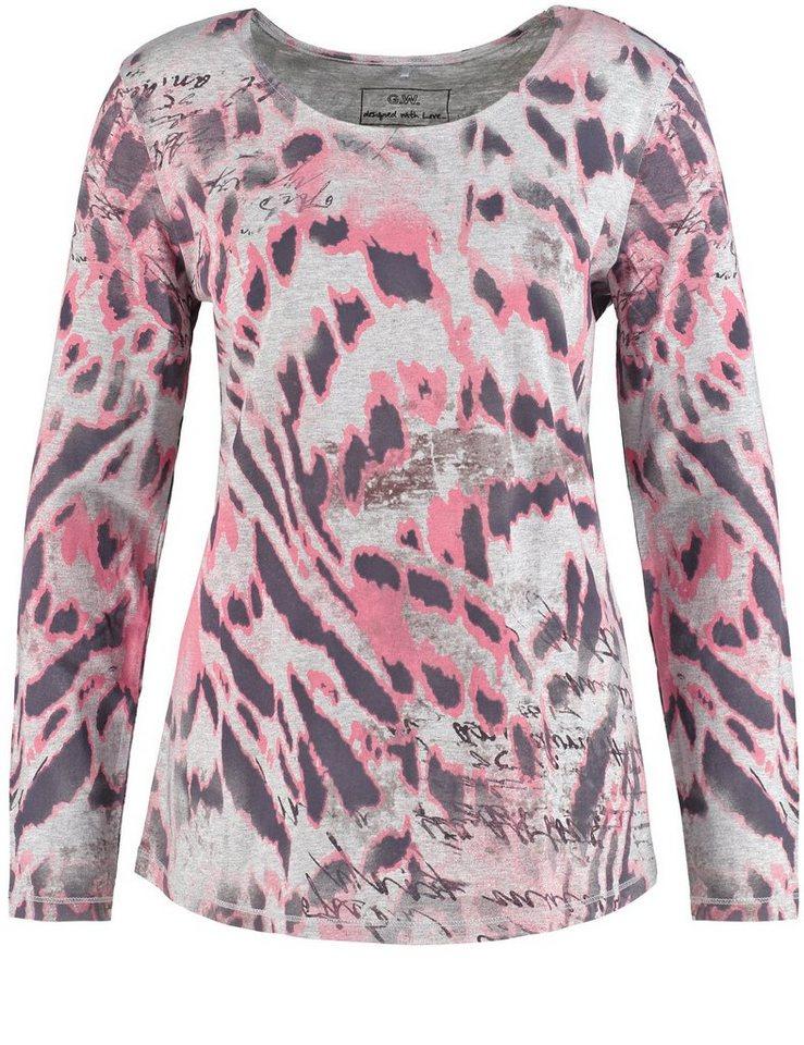 Gerry Weber T-Shirt Langarm Rundhals »Langarmshirt mit modischem Muster« in Grey-Sorbet-Print