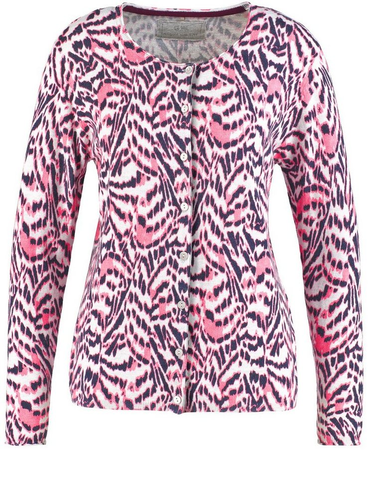 Gerry Weber Jacke Strick »Jacke mit Animalprint« in Sorbet-Grey-Animal-P