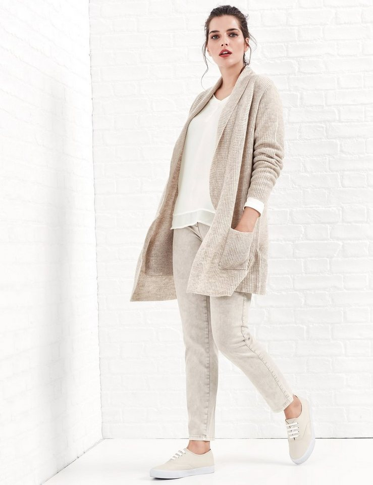 Samoon Jacke Strick »Rippstrick-Cardigan« in Soft Brush-Melange