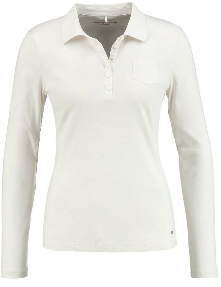 Gerry Weber Polo 1/1 Arm »Polo-Shirt aus reiner Baumwolle« in Ivory