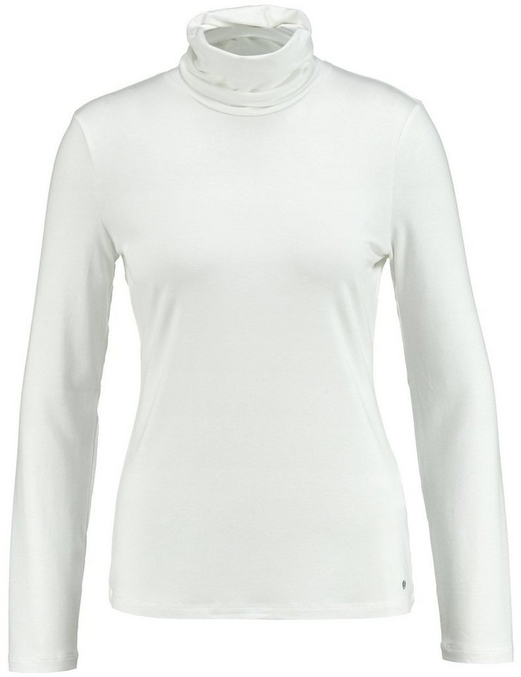 Gerry Weber T-Shirt Rollkragen »Langarmshirt mit Rollkragen« in Off-White