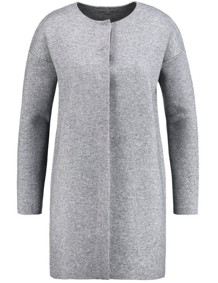 Gerry Weber Jacke Strick »Jacke mit Double-Face Optik« in Grau-Ecru-Weiß Patch
