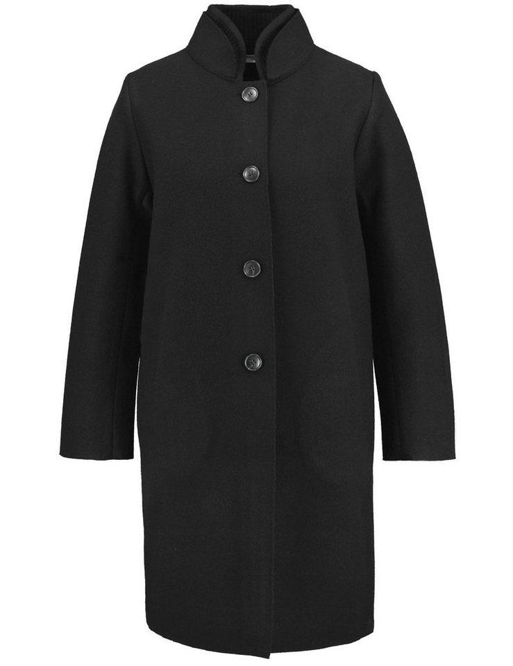 Gerry Weber Jacke Strick »Oversize Jacke aus gekochter Wolle« in Schwarz