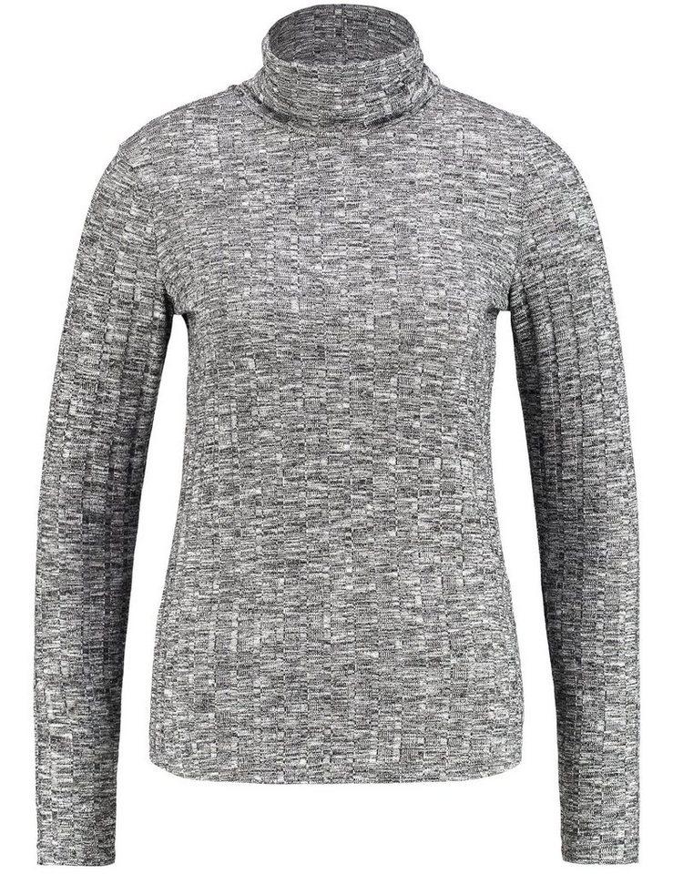 Gerry Weber T-Shirt Rollkragen »Langarmshirt mit Rollkragen« in Schwarz-Ecru-Weiß Ge