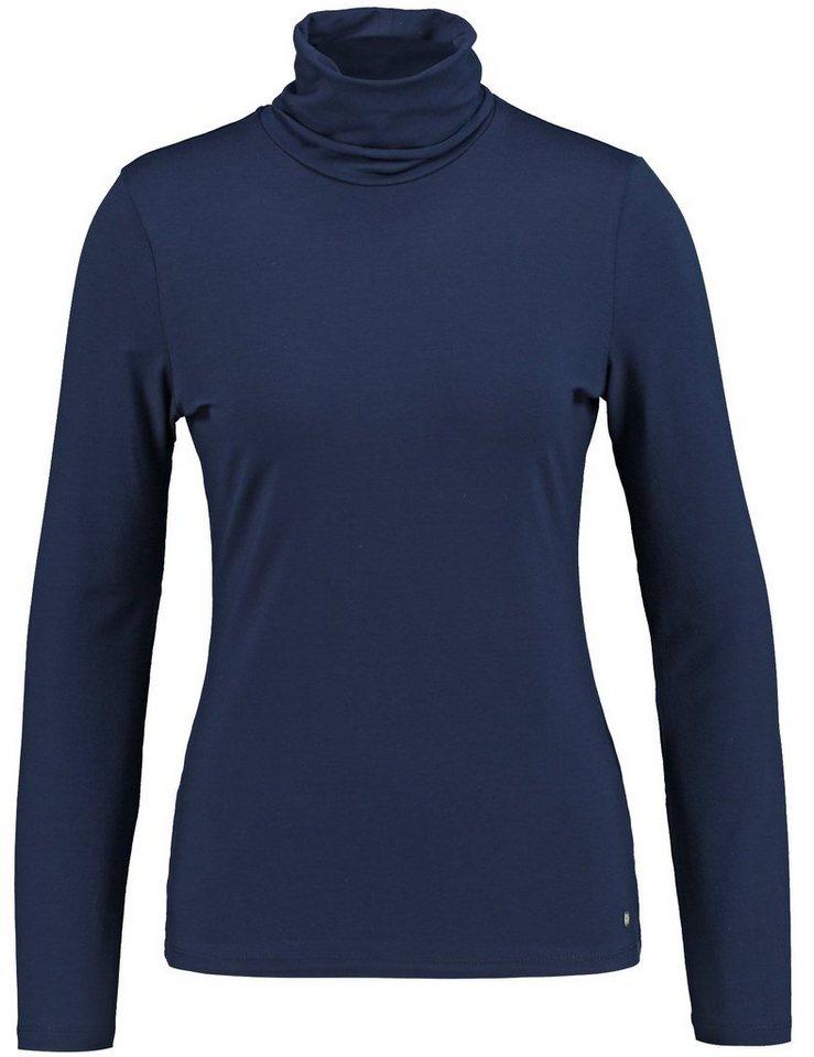 Gerry Weber T-Shirt Rollkragen »Langarmshirt mit Rollkragen« in Nachtblau