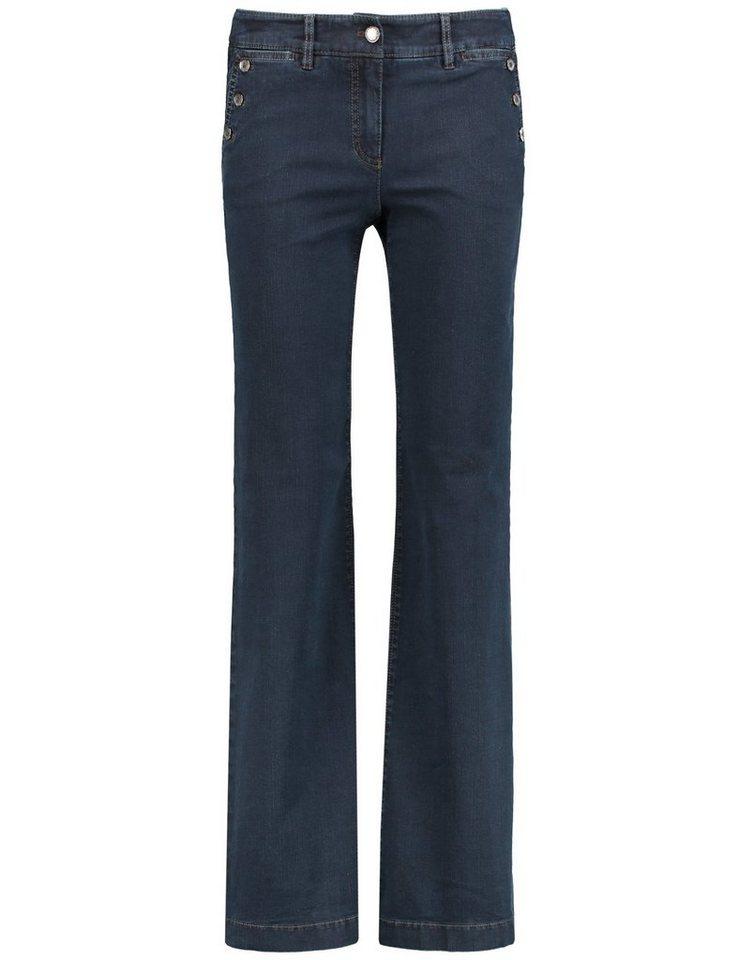 Gerry Weber Hose Jeans lang »Flared Jeans Roxane« in Dunkel Denim