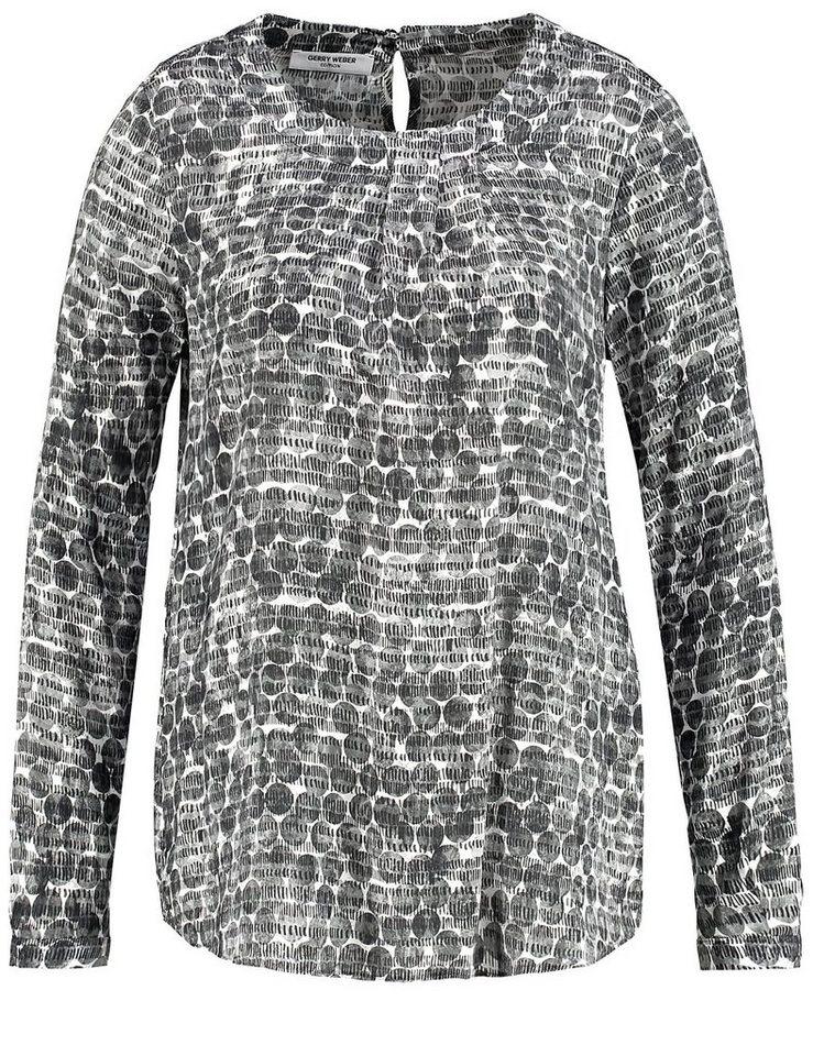 Gerry Weber Bluse Tunika »Bluse mit Faltendetail« in Weiß-Grau