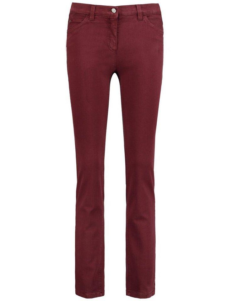 Gerry Weber Hose Jeans lang »5-Pocket Hose Irina« in Dunkelrot