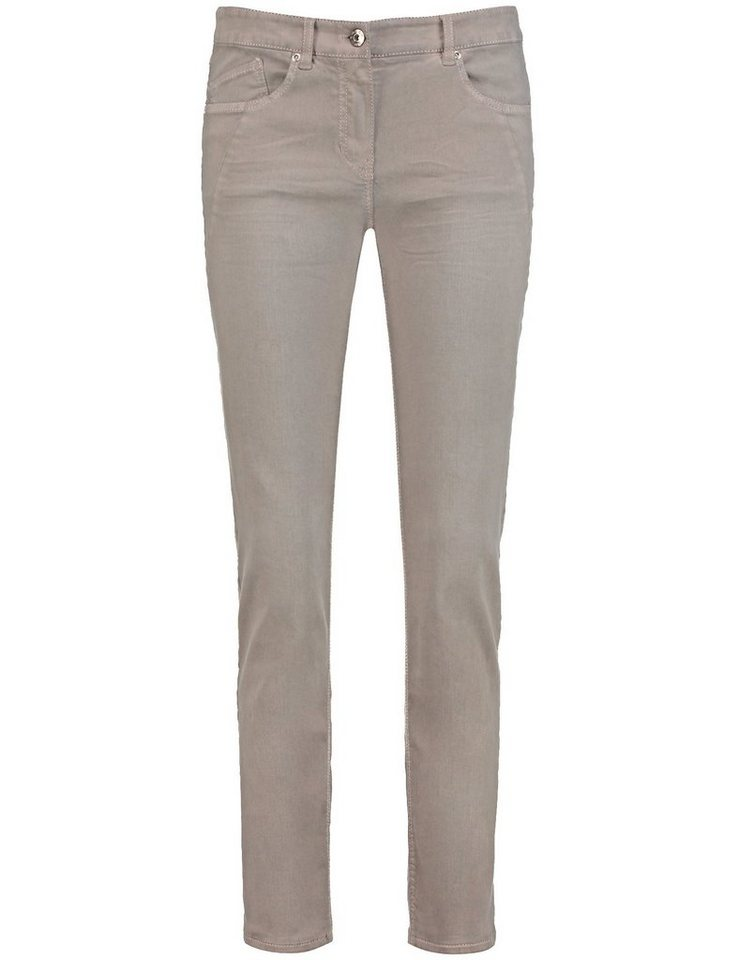 Gerry Weber Hose Jeans lang »5-Pocket Hose mit Teilungsnähten« in Almond-Denim