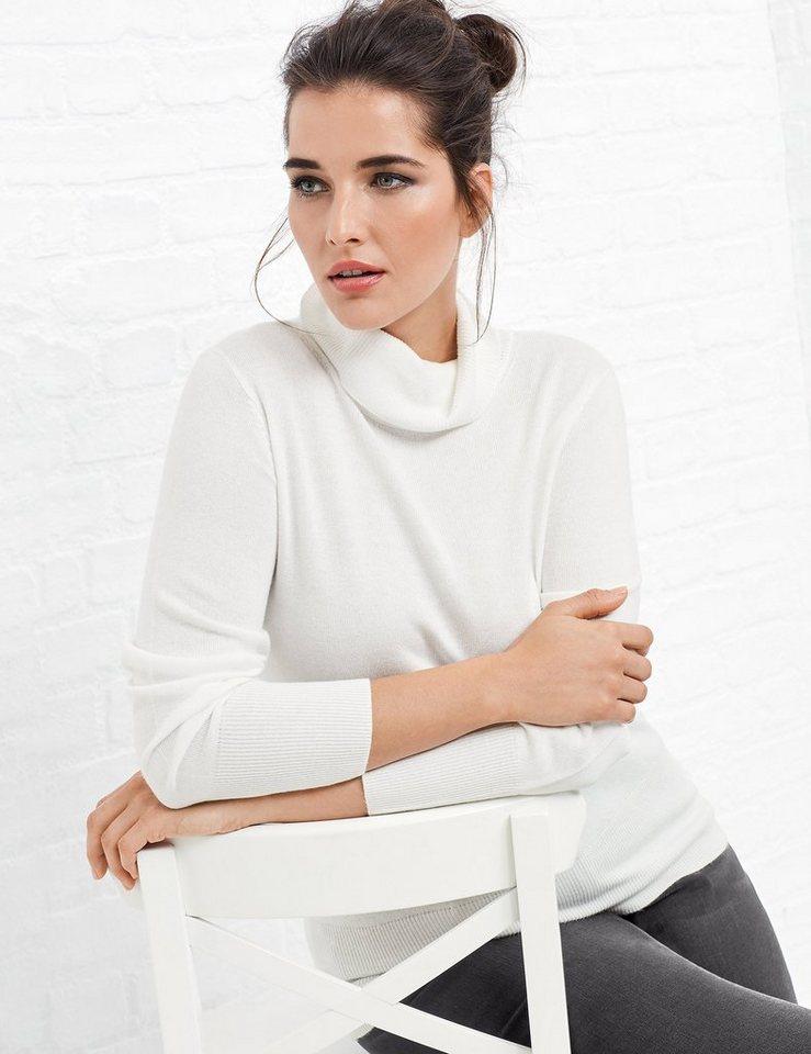 Samoon Pullover Langarm »Rollkragen-Pullover mit Kaschmir« in Off-White