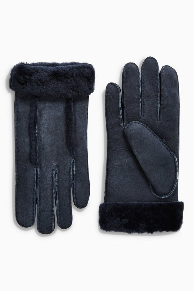 Next Handschuhe aus Lammfell in Navy