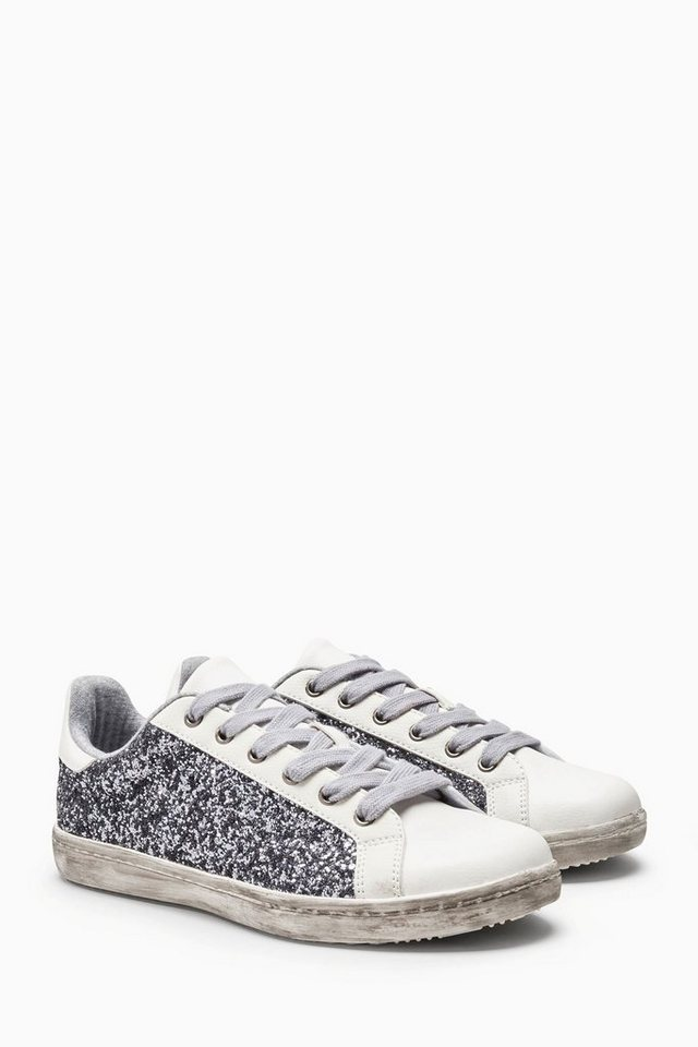 Next Glitzernde Sneaker in Metallic