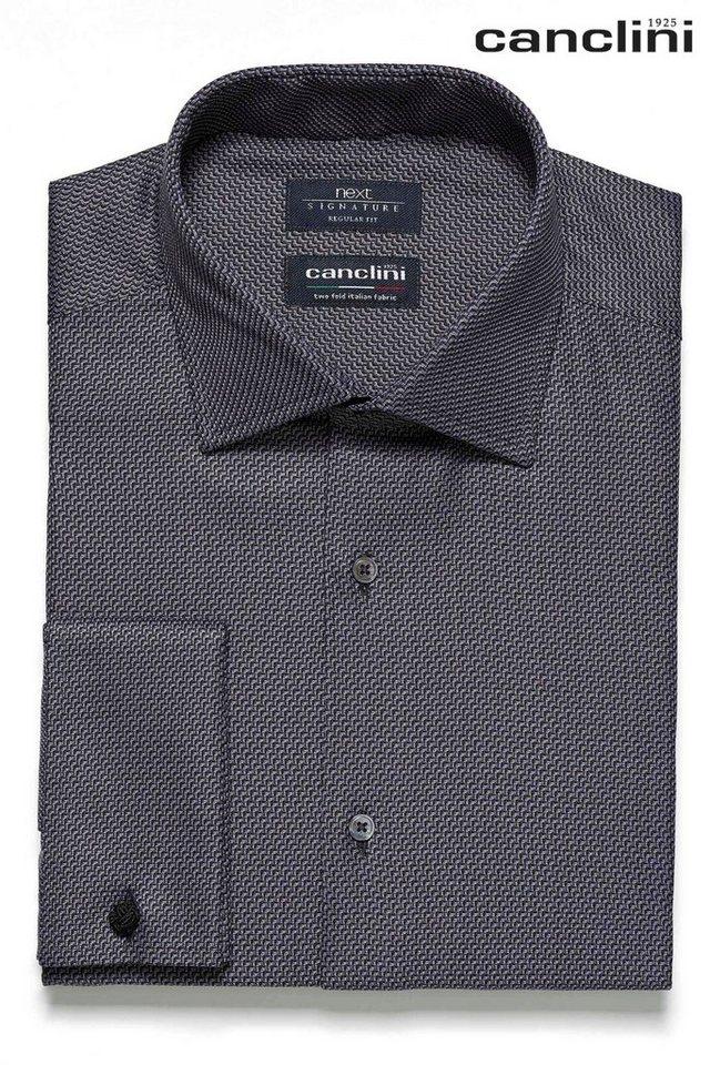 Next Strukturiertes Canclini-Hemd in Grey