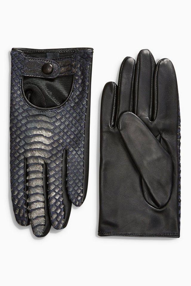 Next Handschuhe in Schlangenhautoptik in Black