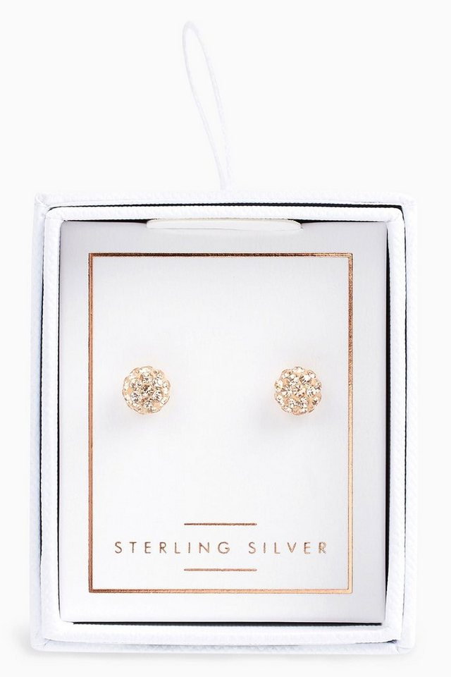 Next Ohrstecker mit Strass in Sterling Silver Rose Gold