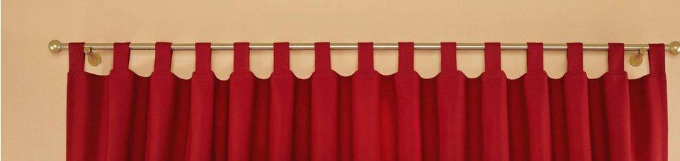Querbehang, Stickereien Plauen, »Durach«, mit Schlaufen in rot