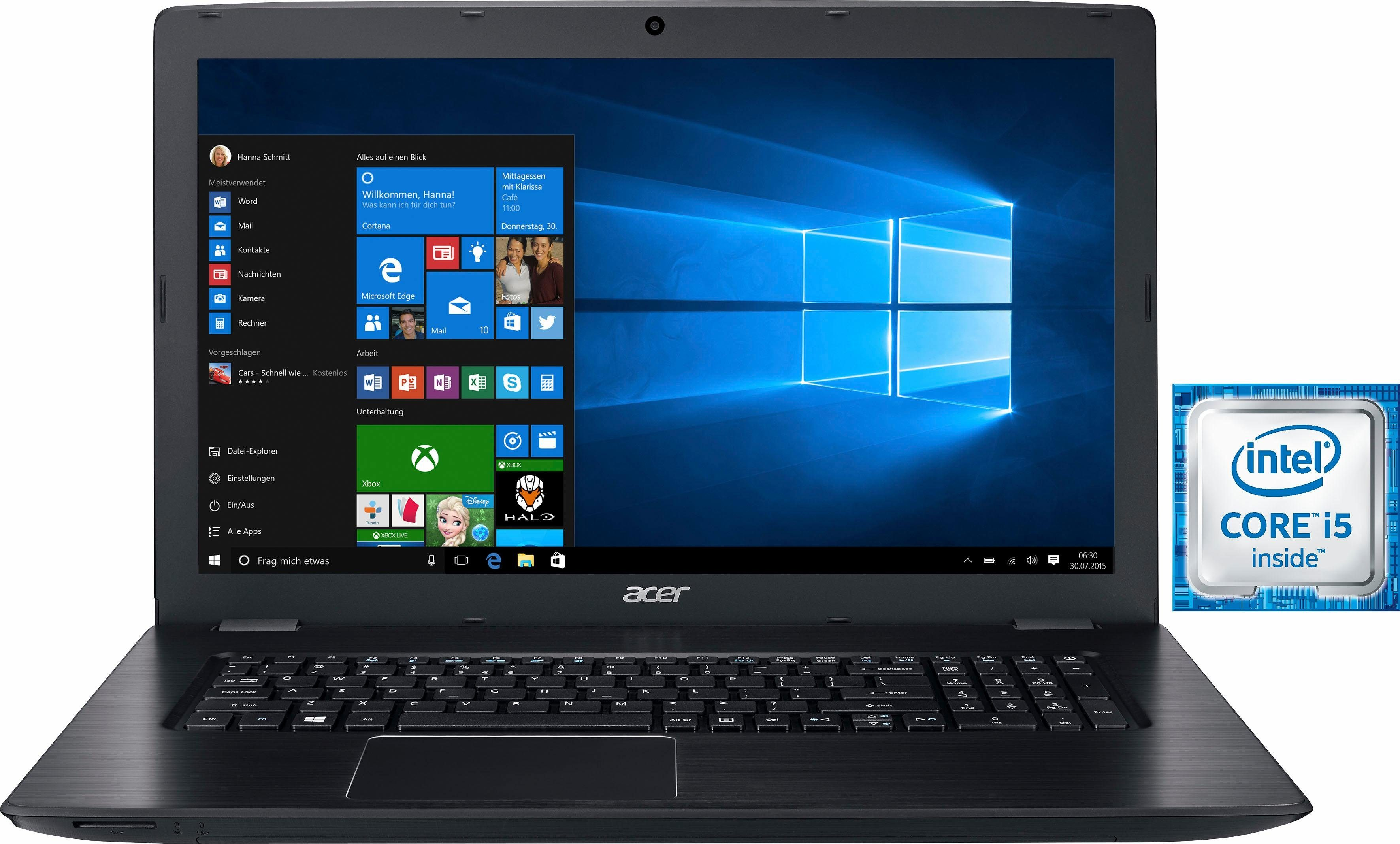 Acer E5-774G-56EP Notebook, Intel® Core™ i5, 43,9 cm (17,3 Zoll), 1128 GB Speicher, 8192 MB DDR4-RAM