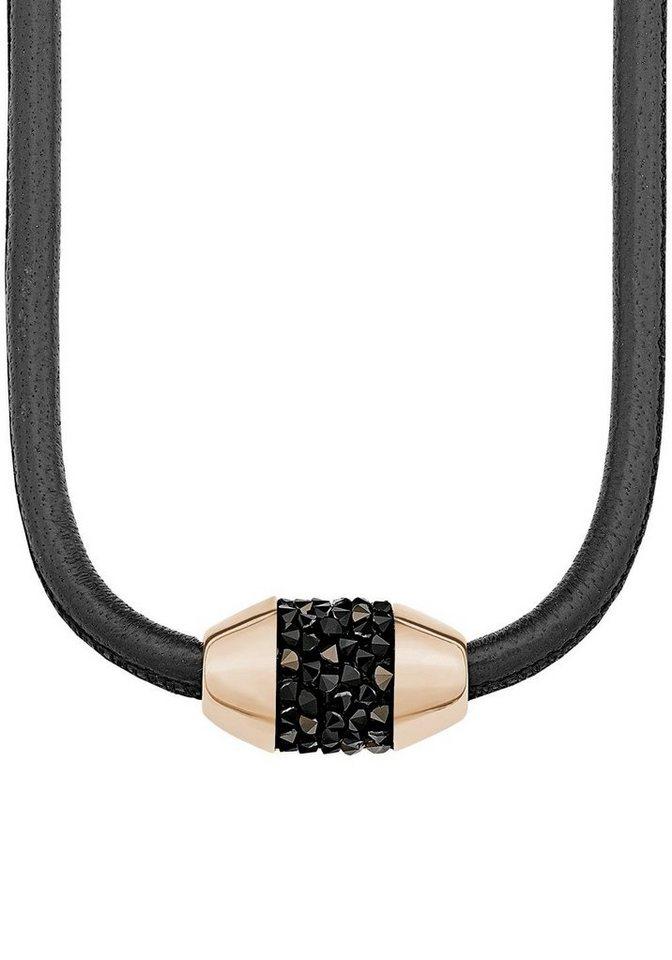 s.Oliver RED LABEL Kette mit Anhänger »2012522« mit Swarovski® Kristallen in roségoldfarben-schwarz-braun