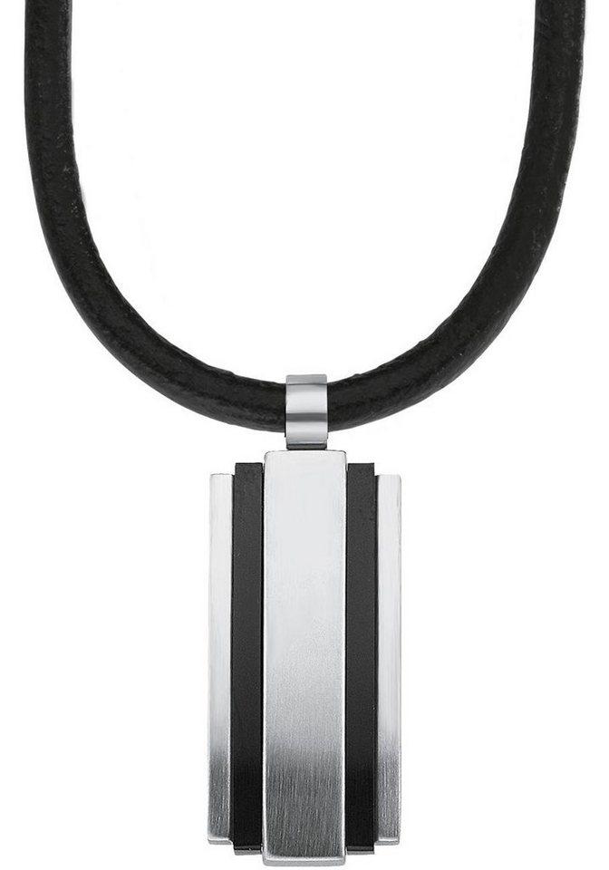 s.Oliver RED LABEL Kette mit Anhänger »2012463« in silberfarben-schwarz