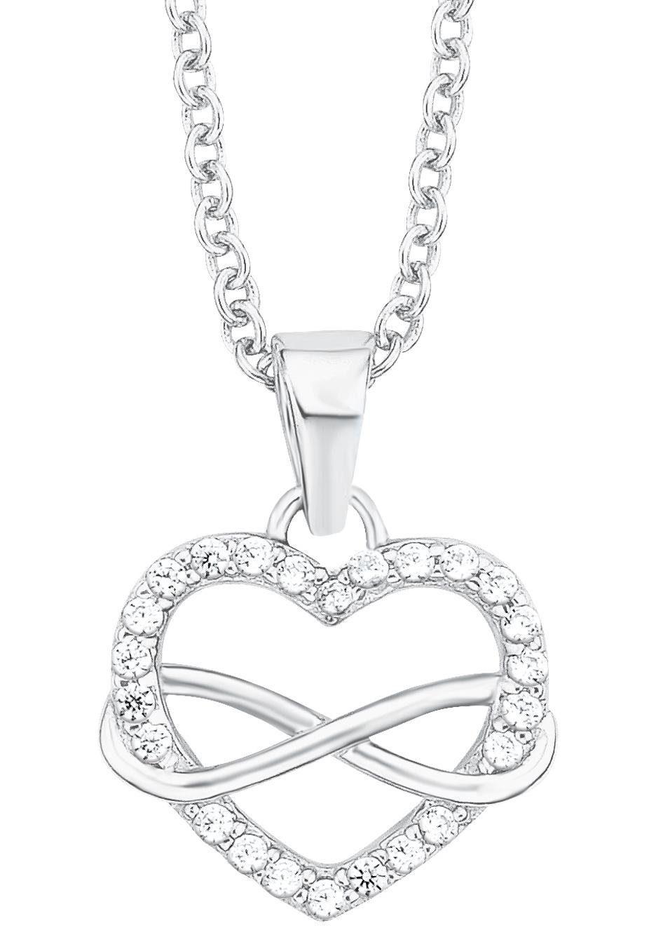 s.Oliver RED LABEL Silberkette »Herz, Infinity/Unendlichkeit, 2012604« mit Zirkonia