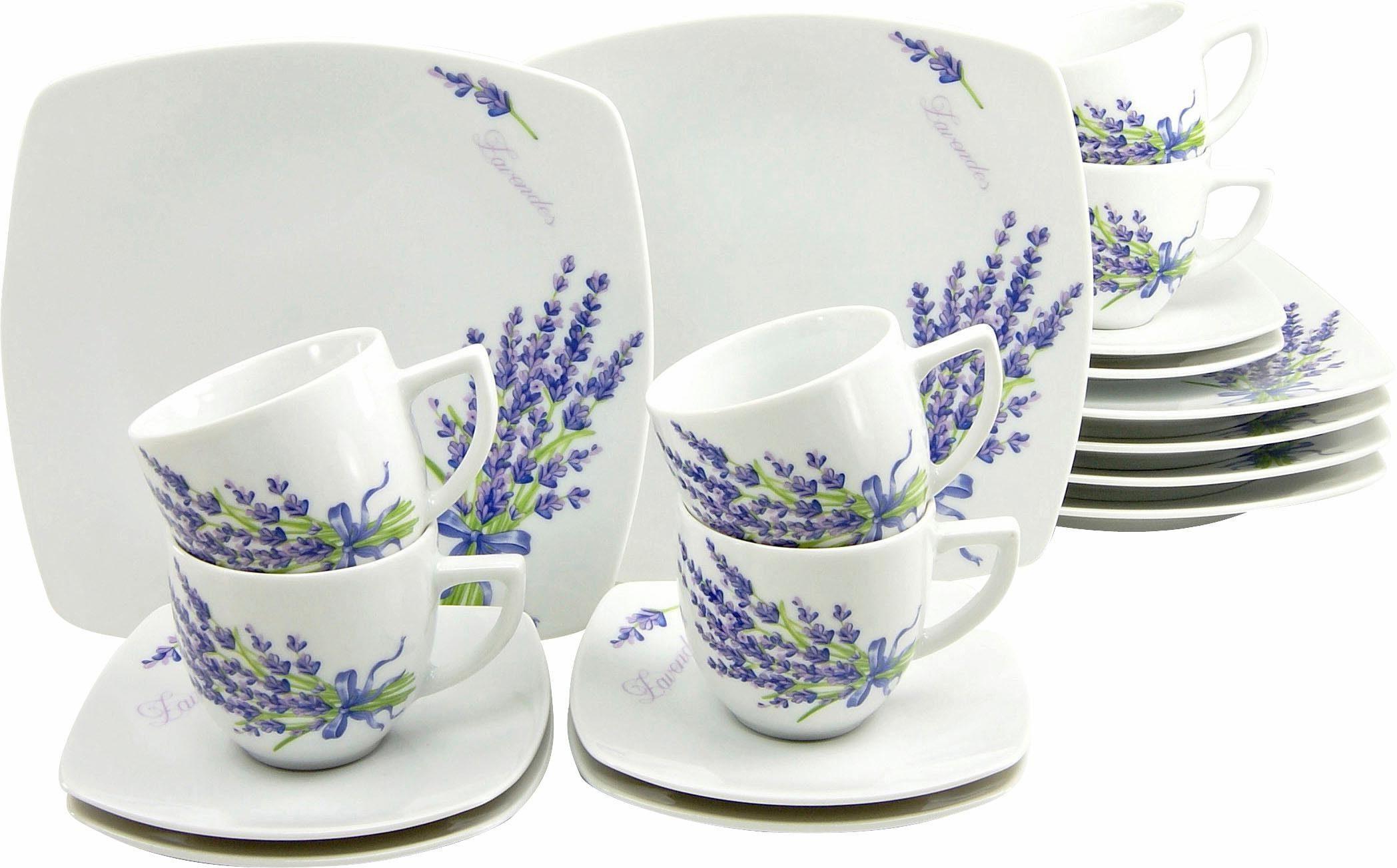 CreaTable Kaffeeservice Porzellan, »DAKAR« (18tlg.)