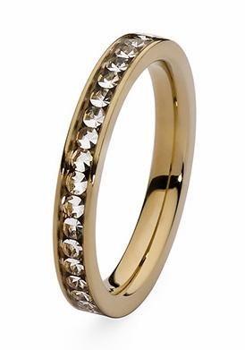 qudo Fingerring »Nueva Deluxe, 630282, 630284, 630285, 630287« mit Swarovski® Kristallen in roségoldfarben