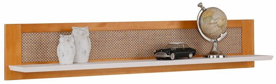 Home affaire Wandregal »Carro« mit Rattan-Front, Breite 120 cm. in gelaugt/geölt