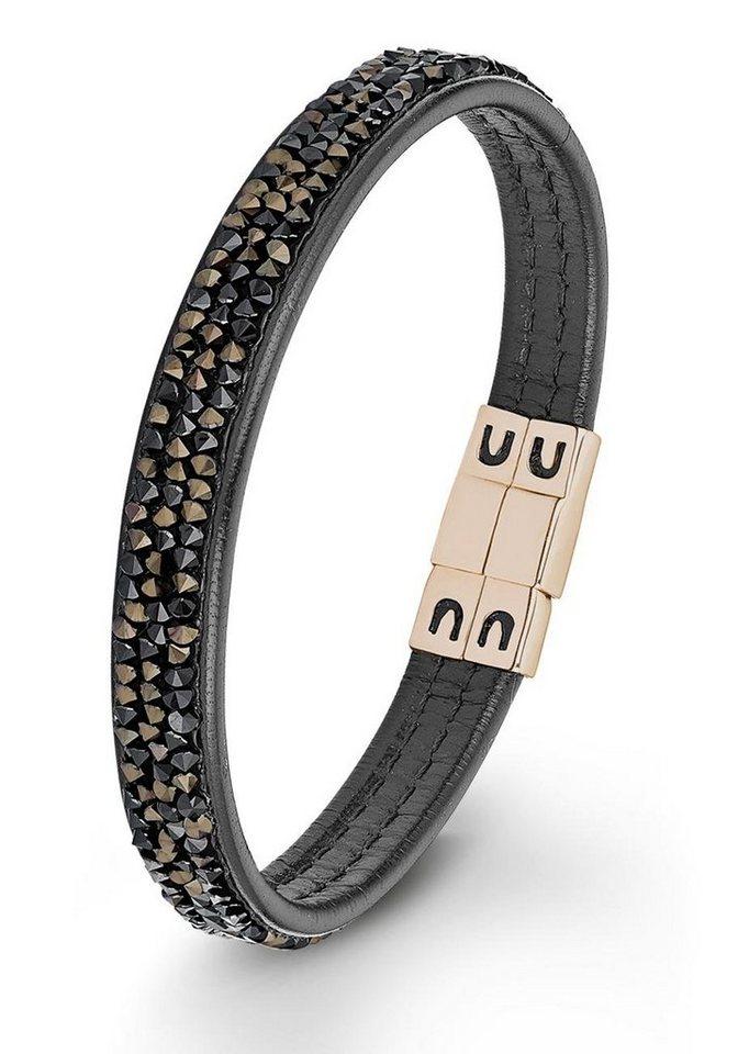 s.Oliver RED LABEL Armband »2012573« mit Swarovski® Kristallen in roségoldfarben-schwarz-braun