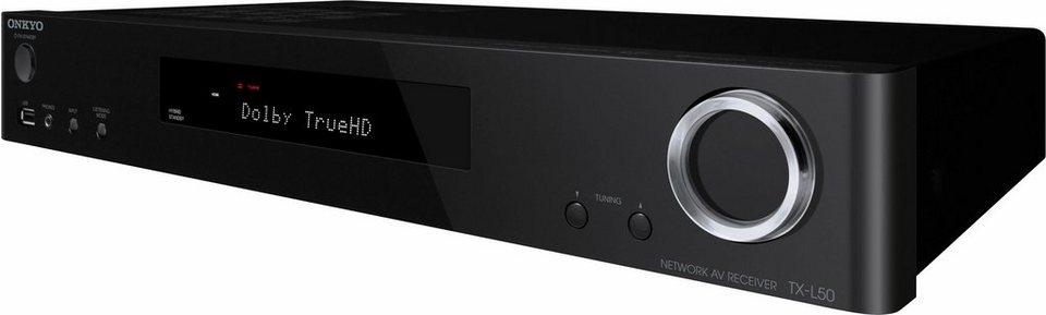 Onkyo TX-L50 6 AV-Receiver (Hi-Res, 3D, Spotify, Deezer, Airplay, WLAN, Bluetooth) in schwarz