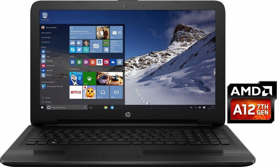 HP 15-ba066ng Notebook, AMD Quad Core, 39,6 cm (15,6 Zoll), 1000 GB Speicher, 8192 MB DDR4-SDRAM in schwarz