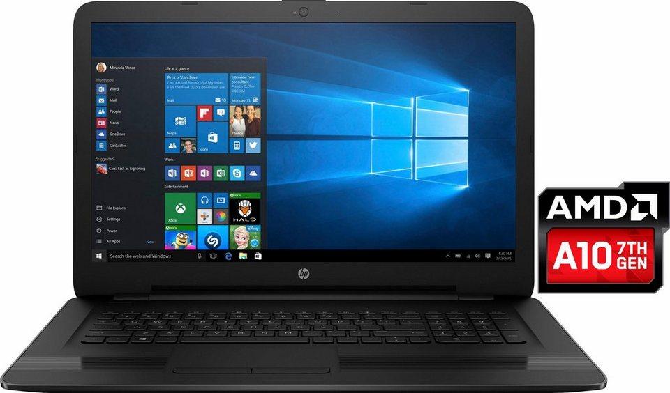 HP 17-y050ng Notebook, AMD Quad Core A10, 43,9 cm (17,3 Zoll), 1000 GB Speicher, 8192 MB DDR4-RAM in schwarz