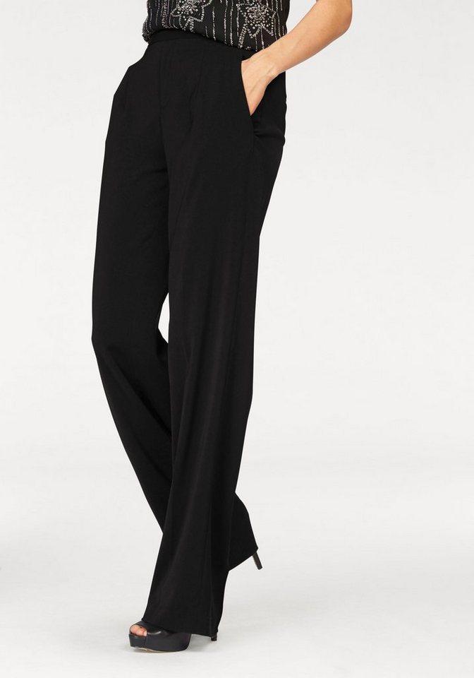 Laura Scott Bundfaltenhose High-Waist, auch in Kurzgröße in schwarz