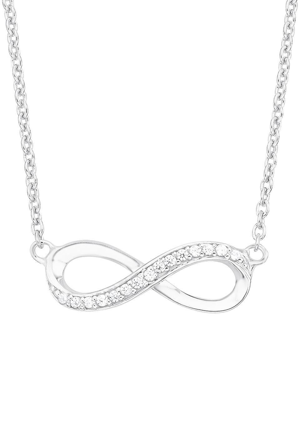 s.Oliver RED LABEL Silberkette »Infinity/Unendlichkeit, 2012527«, mit Zirkonia